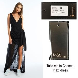 LUX by LIONESS Take Me To Cannes Maxi Dress NEW